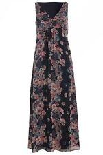 Per Una Sleeveless Floral Striped Maxi Dress