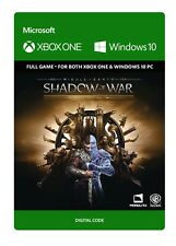SHADOW OF WAR Gold edition Key Code - Xbox One (Never used so brand new)