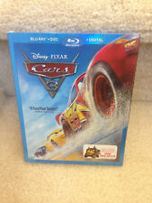 Sealed Disney CARS 3 (Blu-ray + DVD +Digital Copy) w slipcover COMPLETE