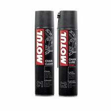 MOTUL KIT PULIZIA CATENA C1 PULITORE CLEAN+C2 GRASSO LUBE SPRAY SPEED TRIPLE