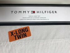 Tommy Hilfiger Oxford Style Gray Striped Sheet Set Twin XL Extra Long NIP Dorm