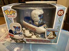 Disney Park Exclusive Funko Pop Rides Matterhorn Bobsled Abominable Snowman
