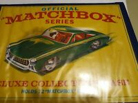 Vintage 1968 Official Matchbox Series Deluxe 72 Car Collectors Case Empty  1/20