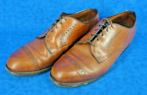 ALLEN EDMONDS Mens Burnished Leather Cap Toe Oxfords Shoes Size 11 (3458)