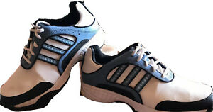 ADIDAS ADIWEAR TRAXION Women's Golf Shoes 791003 White/Blue  Leather Size 7.5