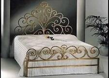 Beautiful Hand Made French Scrolls Iron Bed Ends Frame QUEEN Brass Color