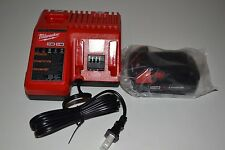 NEW 1 Milwaukee M18 48-11-1820 Battery & 48-59-1812 18v Battery Charger Combo