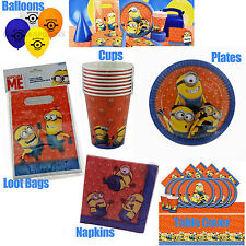 Despicable Me Minions Party Pack Kids Birthday Supplies Plates Cups Table Cover+