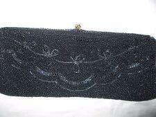 Vintage WALBORG-SPARKLY  Beaded  Black Purse,Clutch,Handbag, Made in Belgium