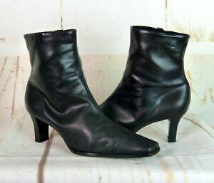 Peter Kaiser Stiefelette Ankle Boots Leder Damen Schwarz Elegant Gr. 38 UK 5