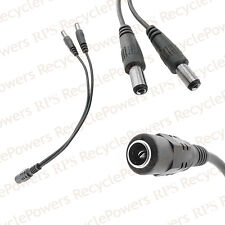1 x CCTV Security Camera 2.1mm 1 to 2 Port Power Splitter Cable Pigtail 12V DC