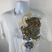 Ecko Unltd. Men's short sleeve patch embellished graphic t-shirt Large L