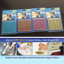 1/2/3 pack Clean Sticks Drain Cleaner and Deodorizer, Unscented 12 stick / PackS
