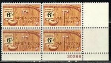 #1357 1968 6-cent Daniel Boone block of 4 MNH w/plate#