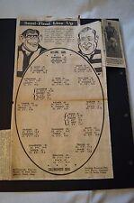 Collingwood - Vintage - VFL - Semi Final Line Up v Geelong - Richards - Flanagan