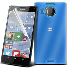 Ultra Thin Clear TPU Gel Skin Case Cover & LCD Film For Microsoft Lumia 950