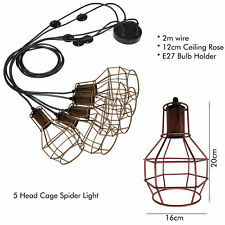5 Heads Vintage Multiple Ajustable DIY Ceiling Spider Lamp Light Pendant Lights