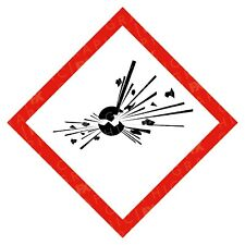 CLP Explosive Hazard Warning Labels Stickers COSHH PPE