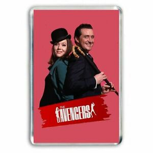 RETRO CULT TV -  THE AVENGERS- JOHN STEED, EMMA PEEL JUMBO FRIDGE MAGNET