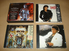 MICHAEL JACKSON FOUR (4) MUSIC CD ALBUMS – THRILLER – BAD – DANGEROUS - HIStory