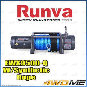 Runva EWX9500-Q 12V 9500lbs COMP SPEC W/Dyneema Rope Recovery Offroad 4WD Winch