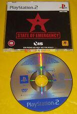 STATE OF EMERGENCY 1 Ps2 Versione Promo Europea gioco completo »»»»» SOLO DISCO