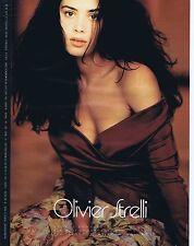 PUBLICITE ADVERTISING 045 1990 OLIVIER STRELLI prêt à porter