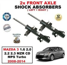 2x FRONT SHOCK ABSORBERS for MAZDA 3 1.6 2.0 2.2 2.3 MZR CD MPS Turbo 2008-2014