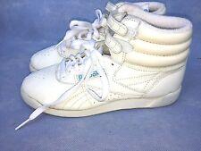 vintage Reebok Women's Sneakers Freestyle Hi Shoes Hi-Top White 5-1/2 Vintage