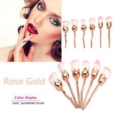 6Pcs PRO Rose Shape Unicorn Diamond Make up Brushes Powder Foundation Contour