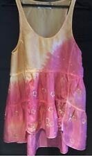 BNWT all saints ombre 100% silk Vest Top Pretty Sunset size 8 hand embellished