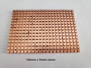 "2.5"" SATA HDD Hard Disk SSD Pure Copper Heatsink Cooling Fin (100 x 70 x 2mm)"