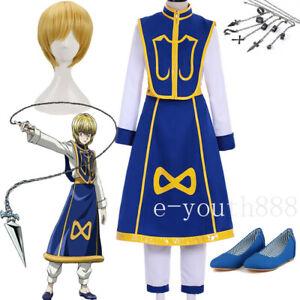 2021 Cosplay Anime Hunter X Hunter Kurapika Costume Wig Shoes Suit Gift Uniform