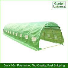 Polytunnel Garden Universe 25mm Galvanised Frame Greenhouse Poly Tunnel 3 x 10m