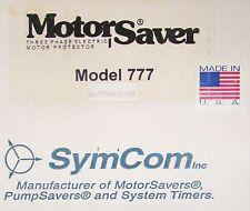SYM COM Model MS777 20-90 Amp 777 Motor Saver Overload Relay