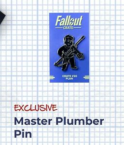 "FALLOUT ""MASTER PLUMBER PERK PIN"" ""Plan"" Theme Loot Crate Loot Gaming Exclusive"