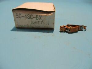NEW BOX OF 10 SELECTA SC-48C-BX COPPER ALIGATOR CLIPS NO 48 C