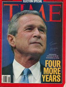 Karen Hughes - Signed Time Magazine Celebrating George W. Bush's Re-election