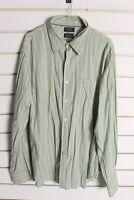Dockers Mens Long Sleeve Striped Shirt - Green - Size XL (bb7)