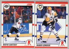 1990-91 Score #1 WAYNE GRETZKY & #2 MARIO LEMIEUX - Canadian / Bilingual back