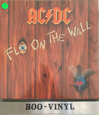 AC/DC- Fly On The Wall vinyl LP Record 1985 German Press Ex Con