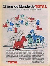 PUBLICITE ADVERTISING 015 1970 TOTAL les chiens du Monde