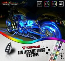 Sound Activated Underbody Accent LED Light Strip Kit For Sportster Motorcycle CA