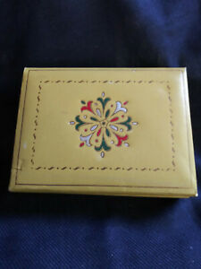 Vintage Trinket Box, Candy Box, Knic Knac Box, Stamped Design Made in USA
