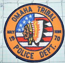 NEBRASKA, MACY, OMAHA RESERVATION TRIBAL POLICE DEPT PATCH