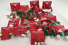 (20) Wholesale Christmas Holiday Earrings Brooches Bracelets Random New & Unused