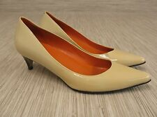Cole Haan Beige Patent Leather Shoes Women's Size US 7.5 B Air Sole Heels