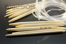 Rundstricknadel Wahl 4 * 5 * 6 * 8 * 9 * 10mm 100 cm Länge Bambus Stricknadel