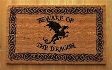 BEWARE OF THE DRAGON DOORMAT - NEMESIS NOW DOOR ENTRANCE LOBBY COIR COCONUT MAT