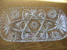 VINTAGE ANCHOR HOCKING EARLY AMERICAN PRESCUT RECTANGLE HOSTESS TRAY